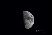 Луна через телескоп